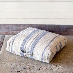 Simple Stripe Linen Floor Cushion