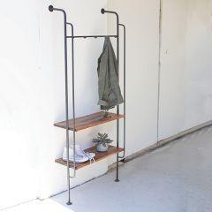 Iron Folding Wall Rack With Shelf