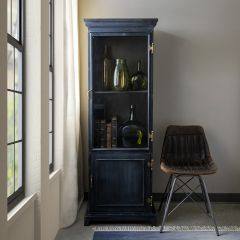 Old World Style Narrow Metal Cabinet