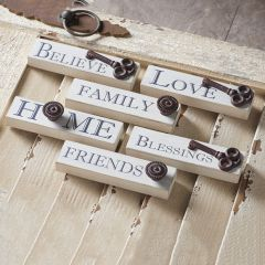 Farmhouse Wood Inspirational Signs Set of 6