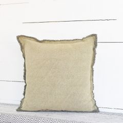 Fringe Trim Accent Pillow