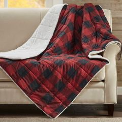 Oversized Plaid Throw Blanket