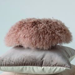 Lamb Fur Accent Pillow
