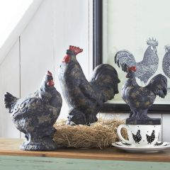 Distressed Decorative Rooster Set of 3