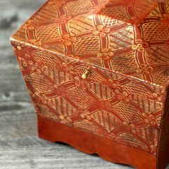 Tooled Pattern Hinge Top Storage Box