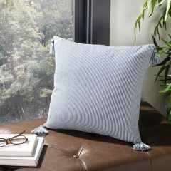 Simple Stripes Tasseled Accent Pillow