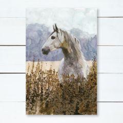 Horse In Field Canvas Wall Art