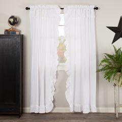 Ruffled Cottage Classic Curtain Panels Set of 2