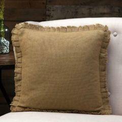 Fringe Edge Natural Burlap Pillow