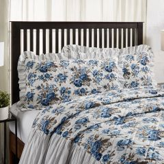 Floral With Ruffle Sham Set of 2 King