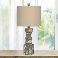 Rustic Distressed Farmhouse Table Lamp