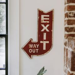 Metal Arrow Exit Sign
