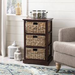 3 Basket Storage Side Table