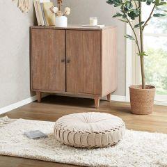 Cozy Cottage Round Floor Cushion Ivory