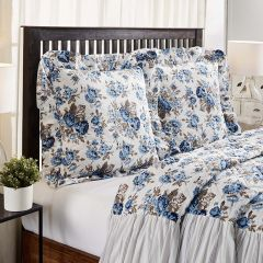 Floral With Ruffle Euro Sham Set of 2
