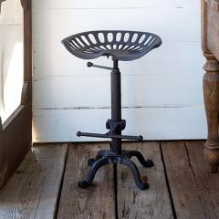 Tractor Seat Stool With Adjustable Height