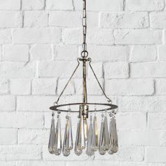Hanging Pendant Light With Crystals