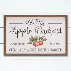 Apple Orchard White Framed Wall Art