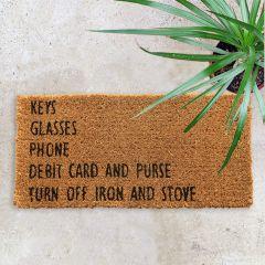 Reminders Coir Doormat