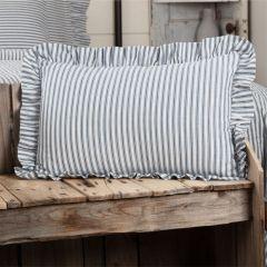 Ruffle Edge Striped Pillow