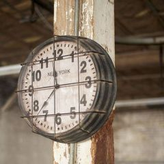 Caged Metal Gym Clock