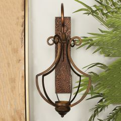 Captivating Caged Metal Wall Sconce