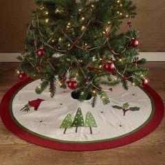 Cardinal Christmas Felt Tree Skirt