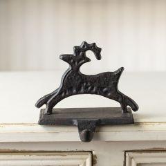 Cast Iron Reindeer Stocking Holder