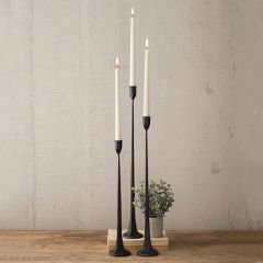 Cast Iron Taper Candle Holder Collection, Set of 3