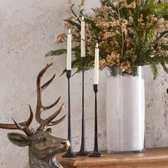 Cast Iron Taper Candle Holder Set of 3