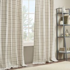 Casual Plaid Curtain Panel 50x84