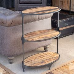 3 Tier Oval End Table