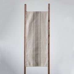 Canvas Table Runner With Stripe