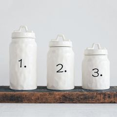 Ceramic Numbered Canister Set of 3