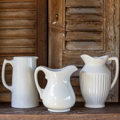 Ceramic Pitcher Collection Set of 3