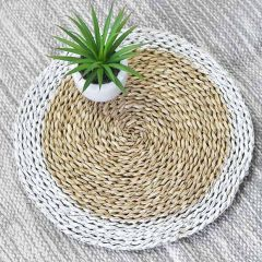 Chic Farmhouse Round Seagrass Placemat Set of 4
