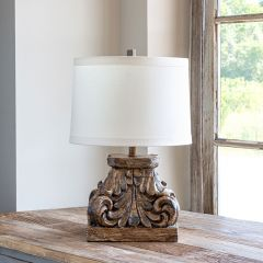 Architectural Capital Table Lamp