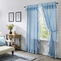 Buffalo Check With Ruffle Curtain Panels Set of 2