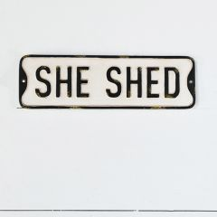 She Shed Wall Sign
