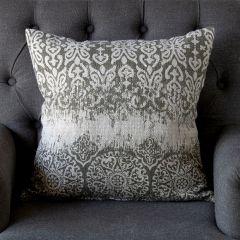 Greyscale Linen Throw Pillow