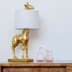 Gold Finished Giraffe Table Lamp