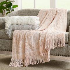 Tufted Cotton Throw Blanket Grey