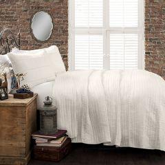 3 Piece Textured Stripe Quilt Set