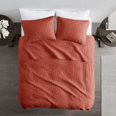 Solid Spice Reversible Coverlet Set