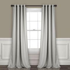Solid Room Darkening Curtain Panel Set of 2