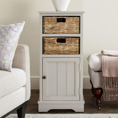 Cabinet With Wicker Drawers