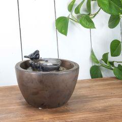 Ceramic Bird Small Water Fountain