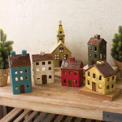 Ceramic Village Set of 6