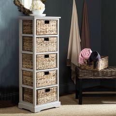 5 Basket Drawer Storage Tower