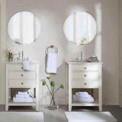 8 Piece Cotton Towel Set White